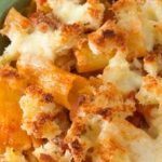 San Remo winter warmer: veal ragu with baked rigatoni and bocconcini bread crust