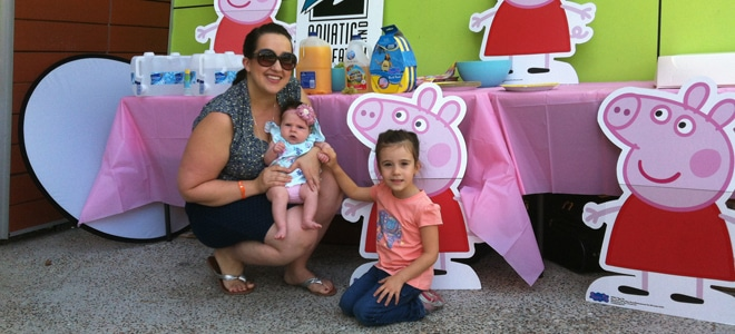 Me and my two little Big Splashers - my baby girl and gorgeous niece