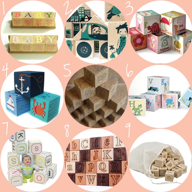 Nine of the best building blocks from etsy