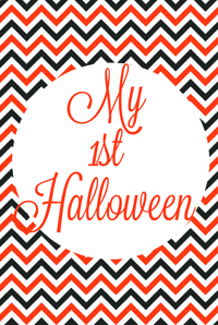 my first halloween printable