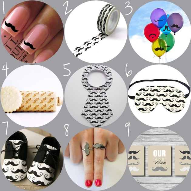 moustache gifts