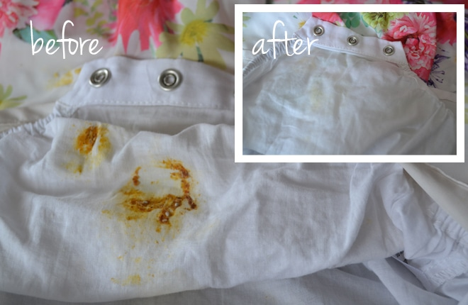 clean onesie before and after