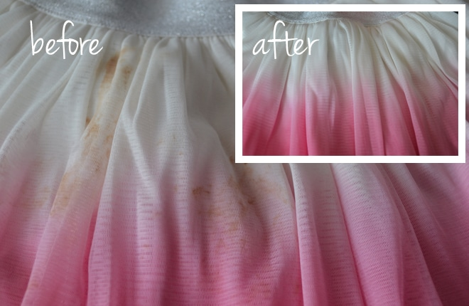 clean skirt before and after