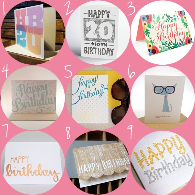 Etsy birthday cards