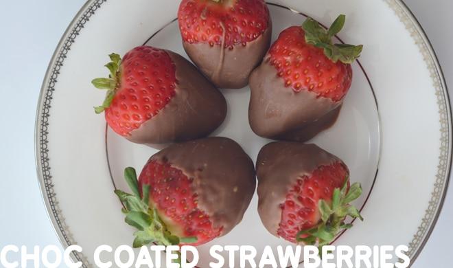 chocolate recipes - choc coated strawberries
