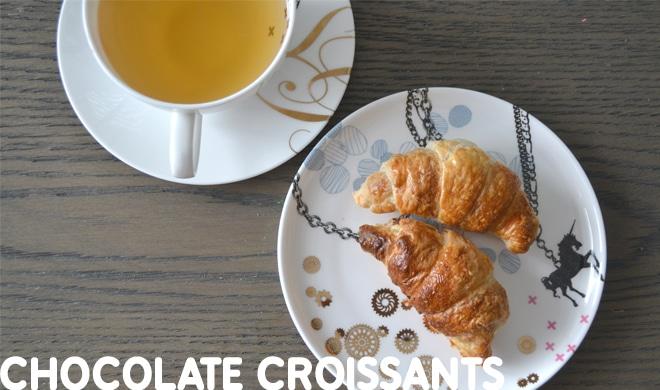 Chocolate recipes - chocolate croissants