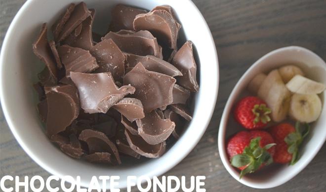 chocolate recipes - chocolate fondue