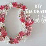 DIY decoration: floral letters