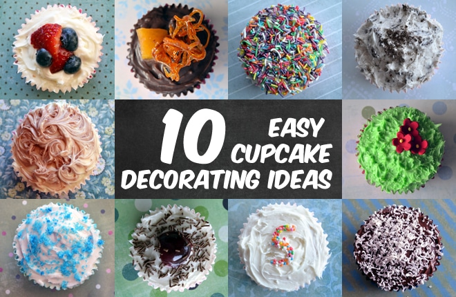 Cupcake Decorating Ideas Simple : 10 easy cupcake decorating ideas Kid Magazine