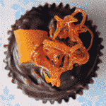 choc orange cupcake decorating idea