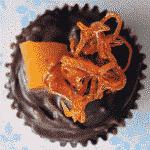 choc orange cupcake decorating idea