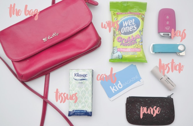 small nappy bag contents