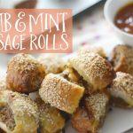 Lamb and mint sausage roll recipe