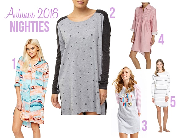 ladies sleepwear autumn winter 16 nighties