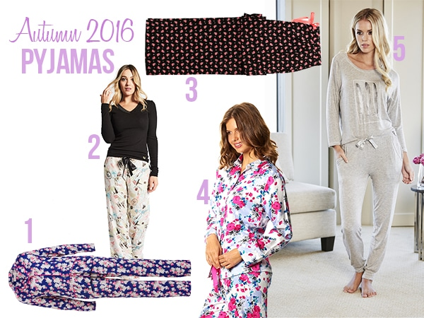 ladies sleepwear autumn winter 16 pyjamas