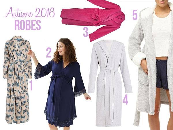 ladies sleepwear autumn winter 16 robes