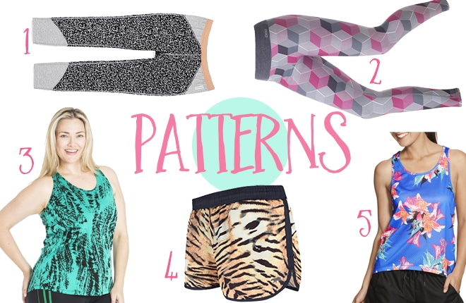 patterned gym clothes