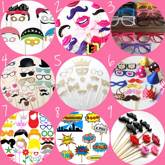 kids party photo booth props