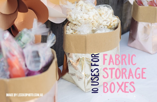 10 uses for fabric storage boxes