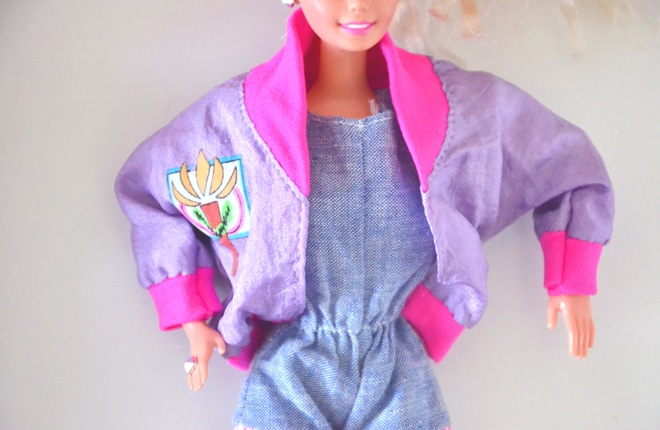 90s barbie parachute jacket