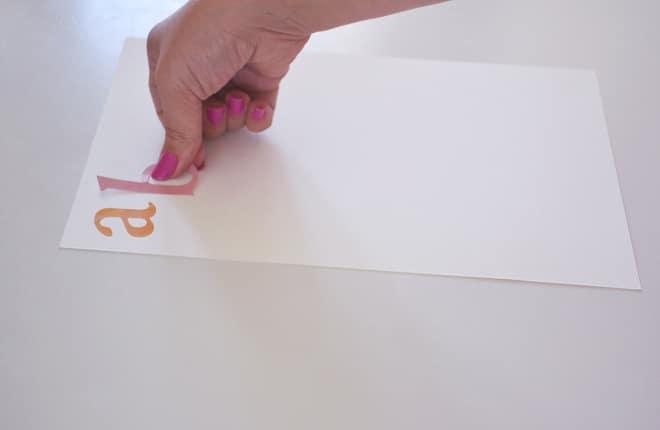 Watercolour alphabet chart stickers