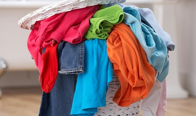 washing piled up