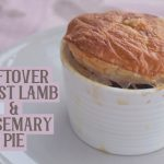 Leftover roast lamb and rosemary pie