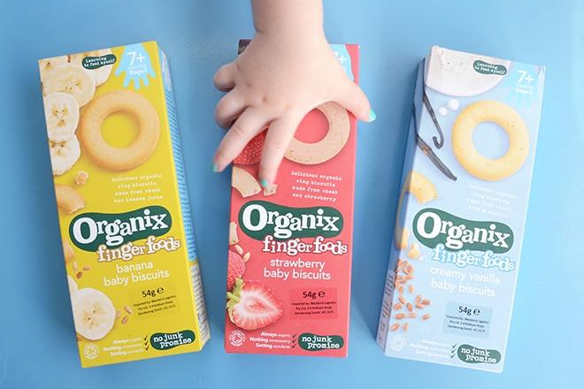 Organix baby biscuits