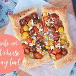 Tomato and goat cheese savoury tart